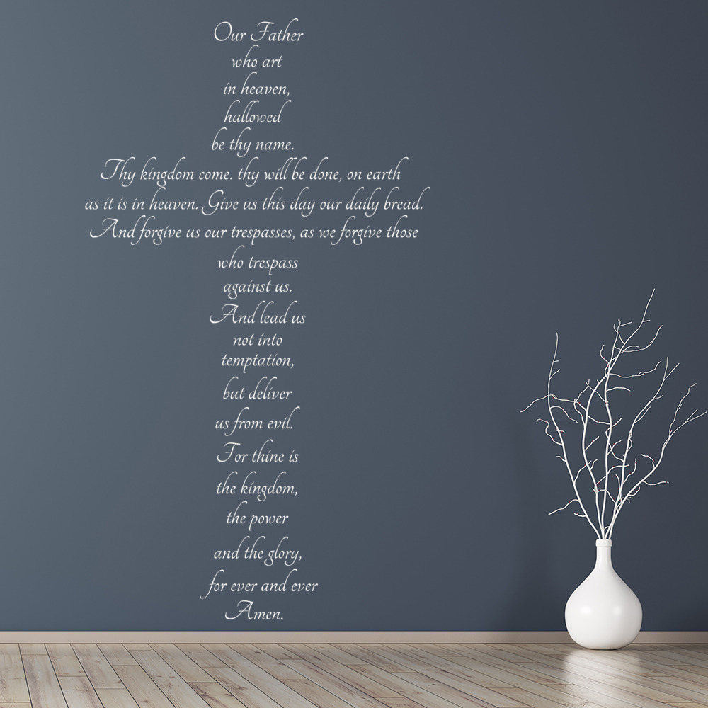 The lords prayer christian religious wall stickers home for Christian wall mural