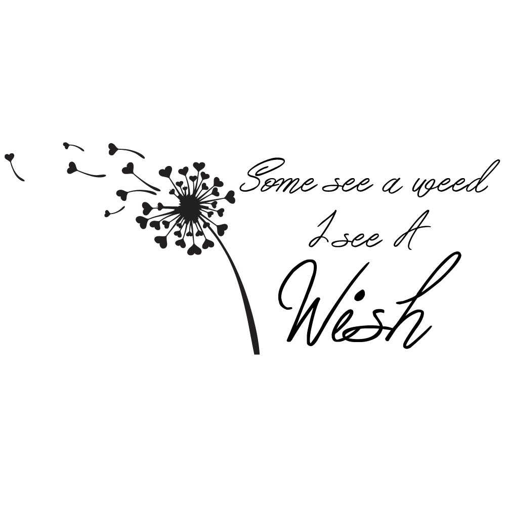 Some See A Weed I See A Wish Wall Sticker Quote Dandelion