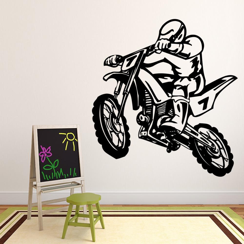 DIRT BIKES DO IT BETTER vinyl wall sticker words saying moto stunt motorcycle