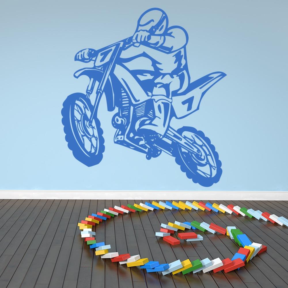 Dirt Bike Stunt Motocross Bike Motorbike Wall Sticker Kids Decor Art Decals Part 42