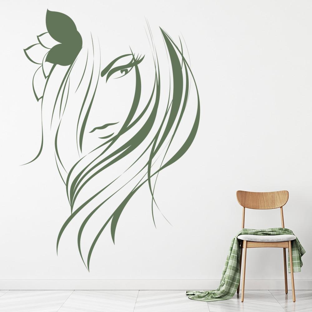 Hair Salon Wall Sticker Girls Beauty Wall Decal Hair Dressers Home ...