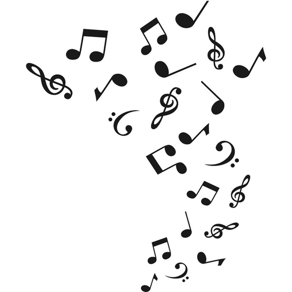 Note musicali adesivo murale musica adesivo da parete ragazzi camera da letto ebay - Musica da camera da letto ...