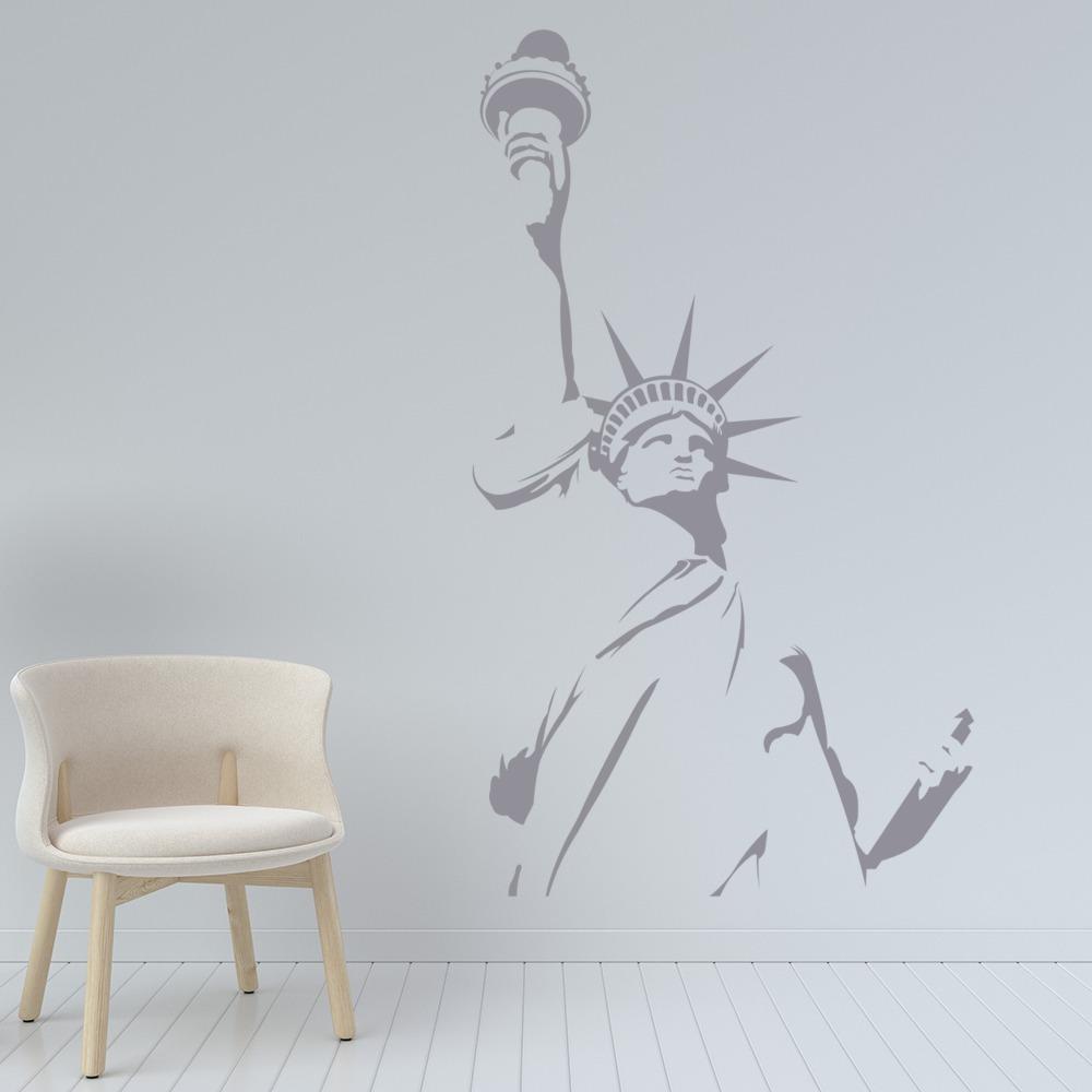Statue Of Liberty Wall Sticker New York City Wall Decal USA Landmark ...