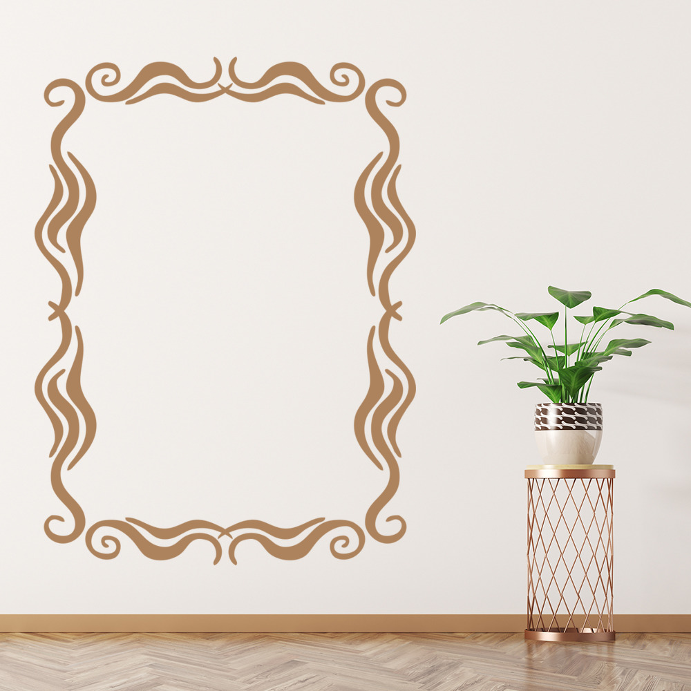 Swirl Picture Frame Wall Decal Sticker WS-15575