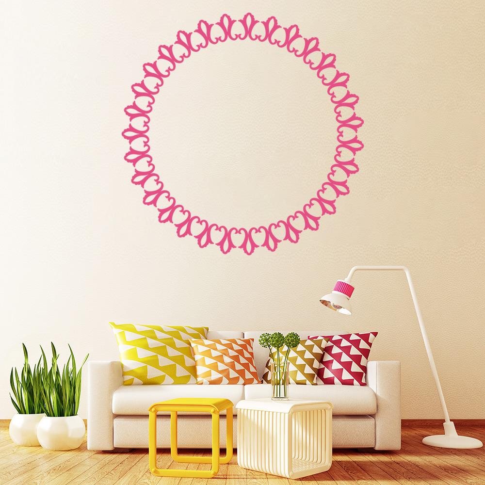 cadre photo autocollant mural cercle cadre photo sticker. Black Bedroom Furniture Sets. Home Design Ideas