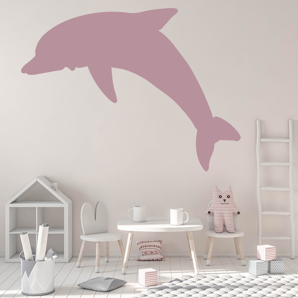 Diving dolphin silhouette under the sea wall stickers bathroom diving dolphin silhouette under the sea wall stickers bathroom decor art decals amipublicfo Image collections