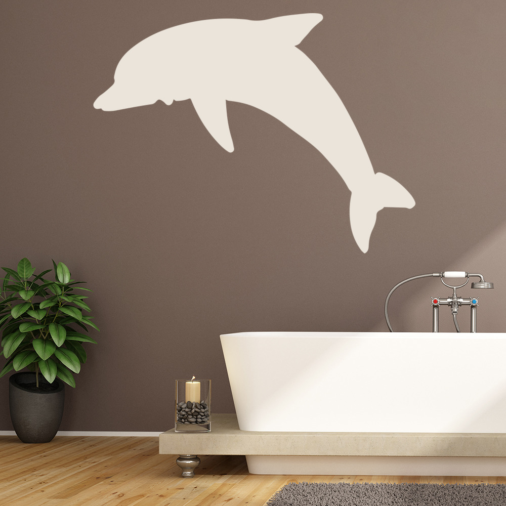 Diving dolphin silhouette under the sea wall stickers bathroom diving dolphin silhouette under the sea wall stickers bathroom decor art decals amipublicfo Gallery