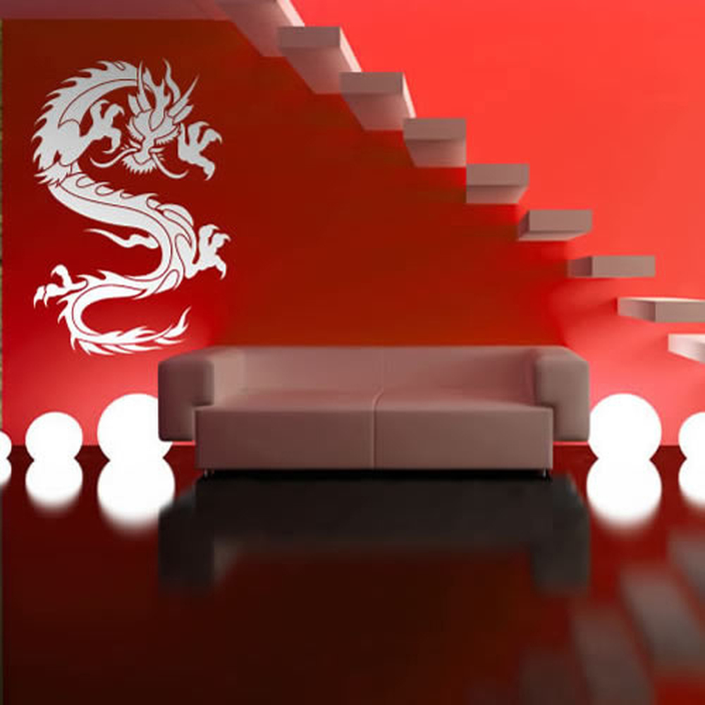Chinese Dragon Wall Sticker Fantasy Animal Wall Decal Boys Bedroom Home  Decor