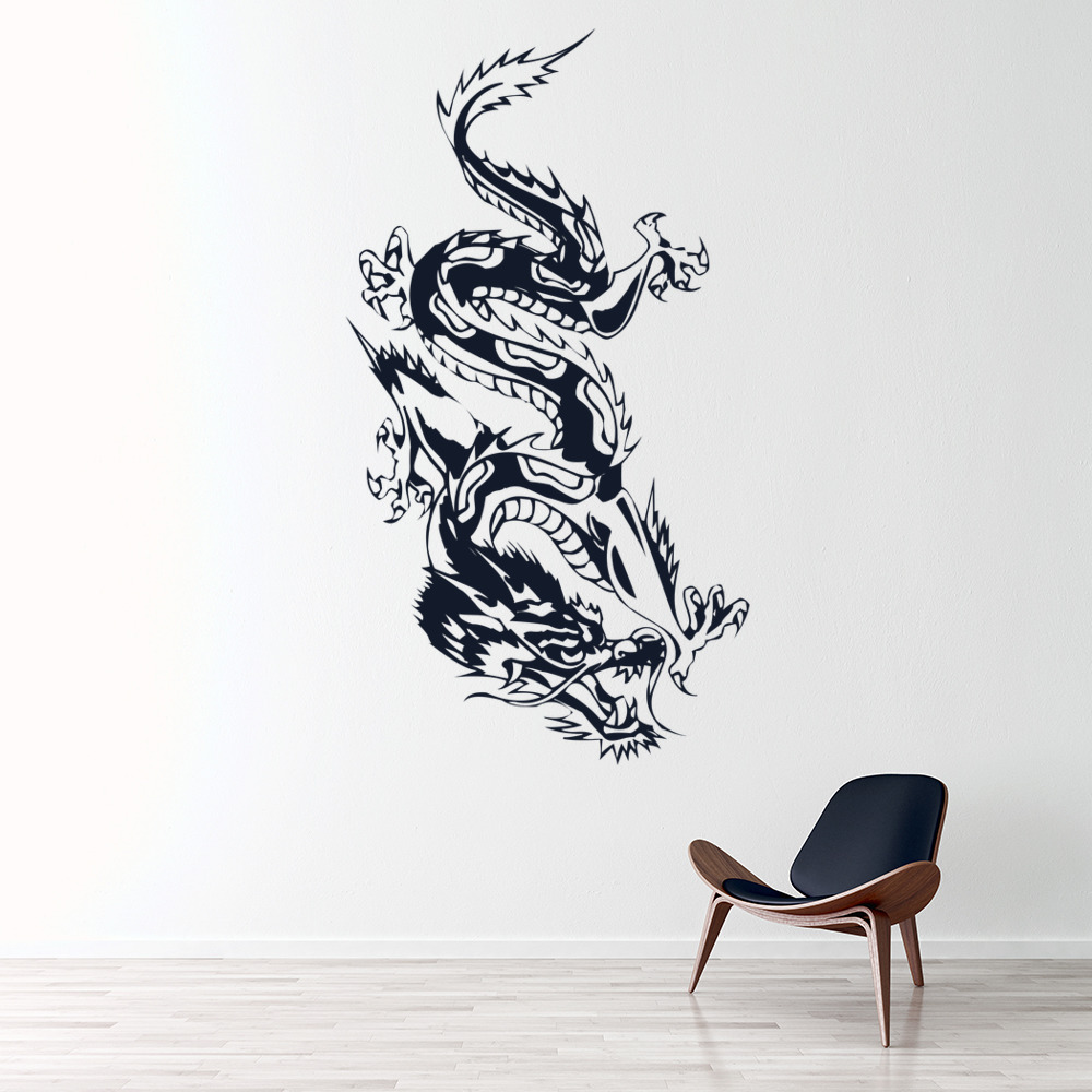 Chinese Dragon Wall Sticker Animals Fantasy Wall Decal Boys Bedroom Home  Decor