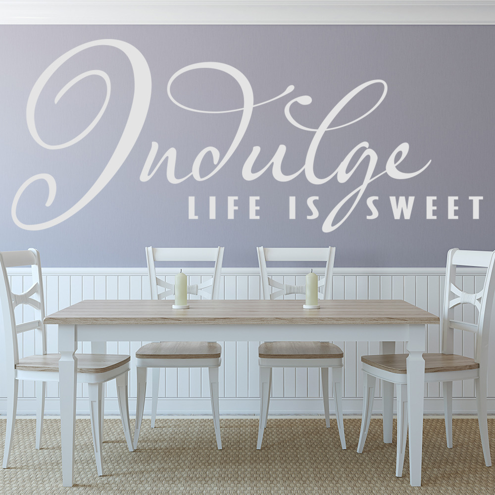 Life Is Sweet Wall Sticker Kitchen Quotes Wall Decal Family Home ...