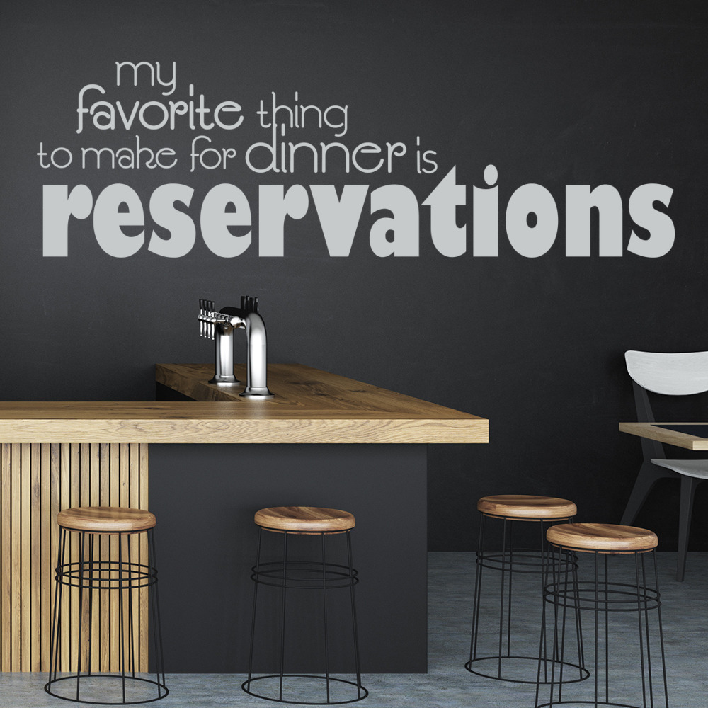 Reservations Wall Sticker Kitchen Quotes Wall Decal Funny Home Decor ...