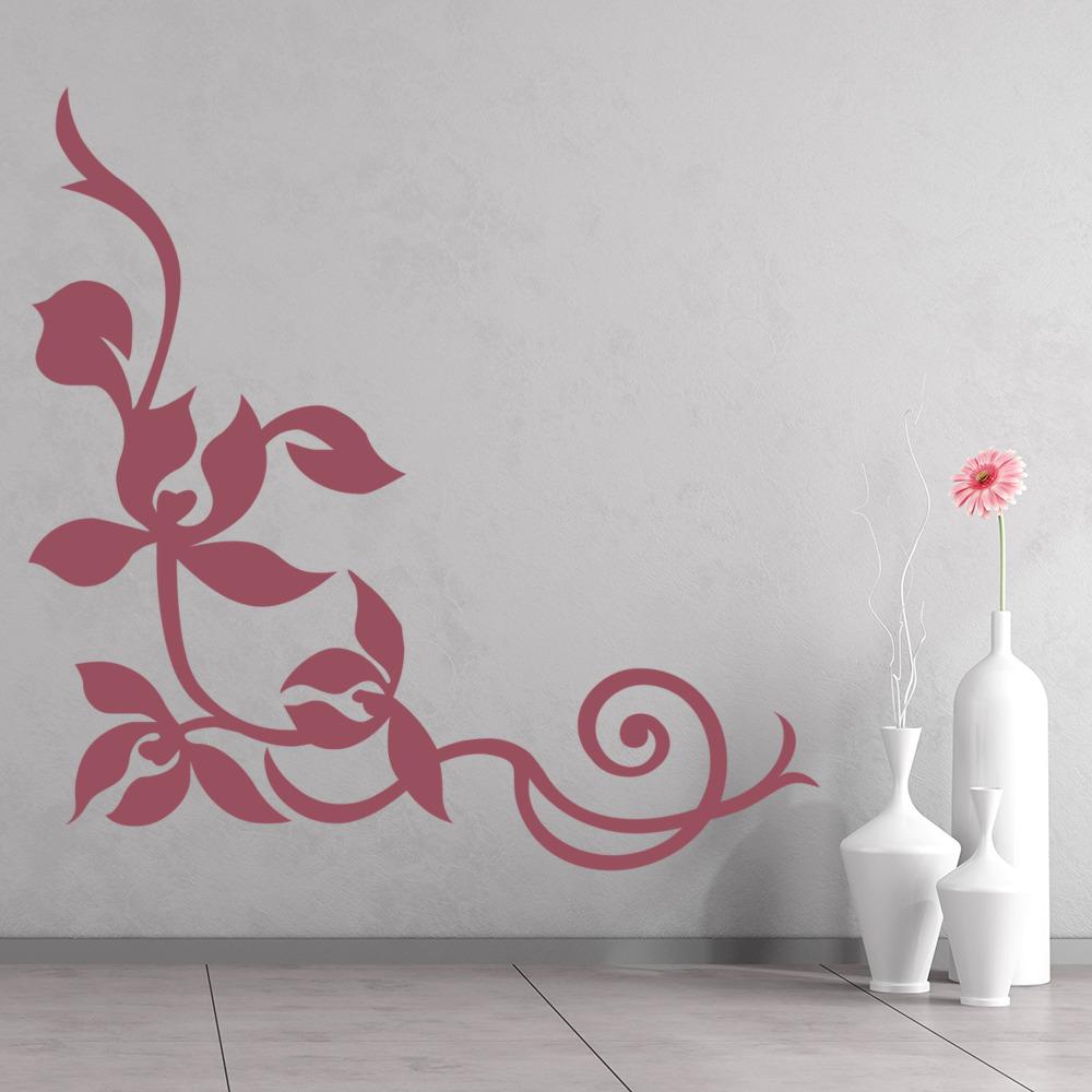 Decorative Leaf Wall Sticker Corner Wall Decal Bedroom Living Room ...