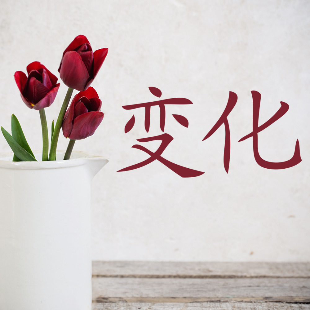 Change Wall Sticker Chinese Symbol Wall Decal Living Room Bedroom ...