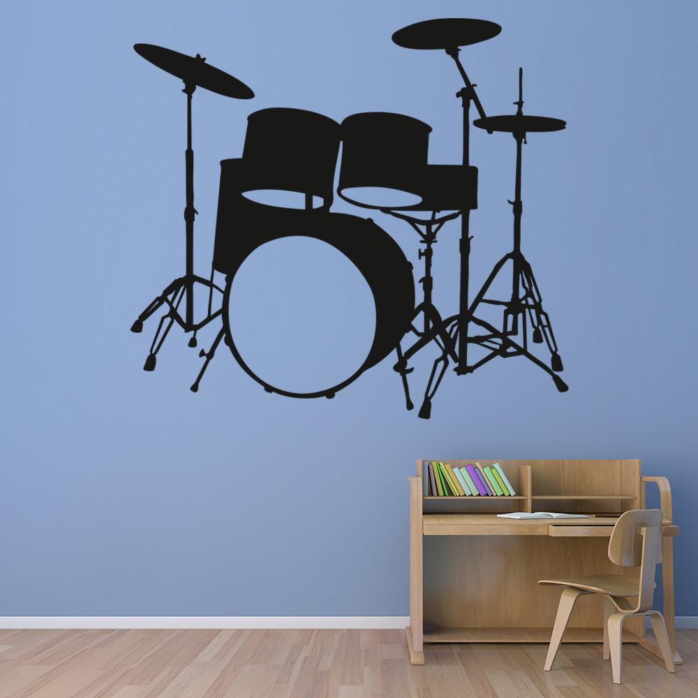 Kit de bater a vinilos decorativo instrumentos m sica for Vinilos decorativos instrumentos musicales