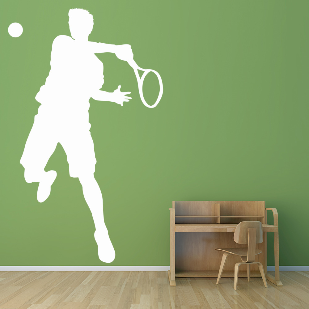 Tennis Player Wall Sticker Tennis Wall Decal Kids School Sports - Sporting wall decals