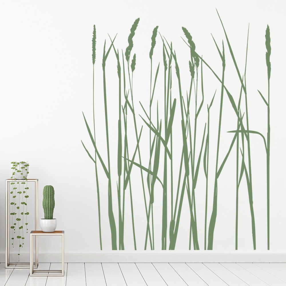 long grass wall sticker flowers trees wall decal nature flowers home
