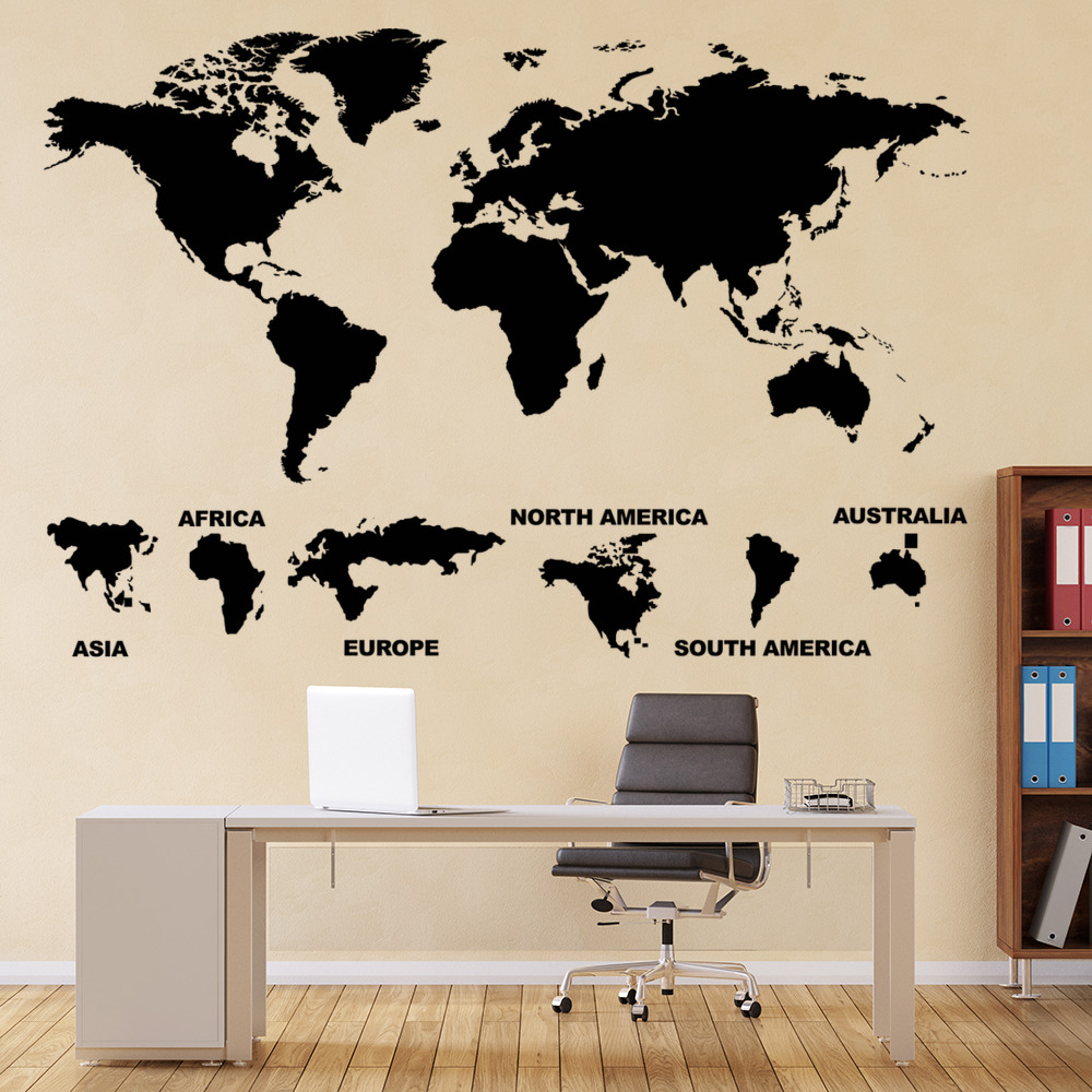 Mobel Wohnen Voyage Stickers Carte Du Monde Planisphere Autocollant Muraux Ref1mapmonde Maybrands Com Ng