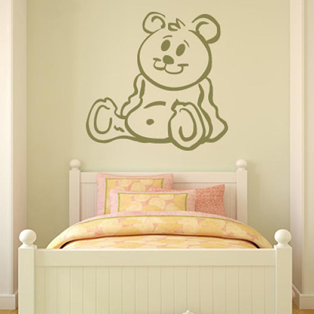 Teddy Bear Wall Sticker Nursery Wall Decal Childrens Kids Home ...