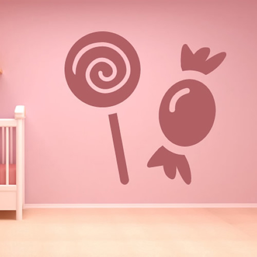 Colorful Lollipop Wall Decal By Wallmonkeys Peel And Stick Graphic 36 In H X 20 In W Wm59190 Walmart Com Walmart Com