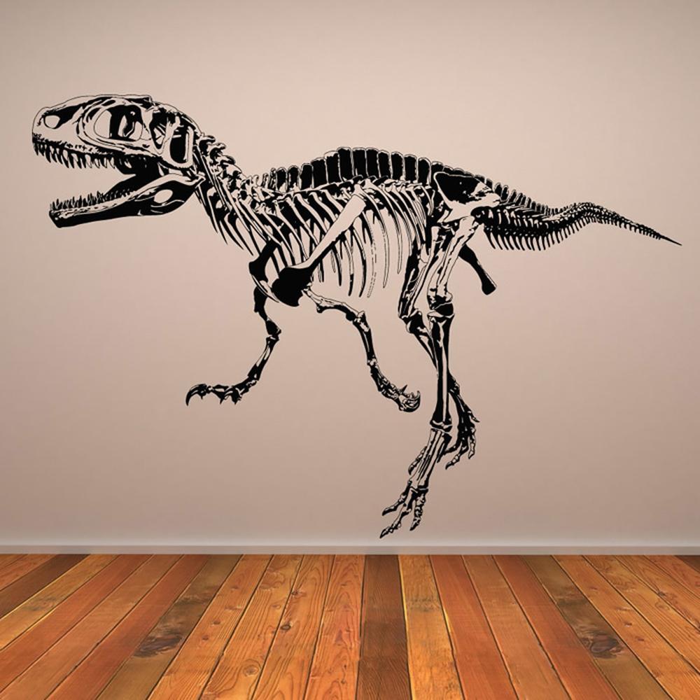 T-Rex-skelet Muursticker Jurassic Dinosaur Muurtattoo Kinderen ...