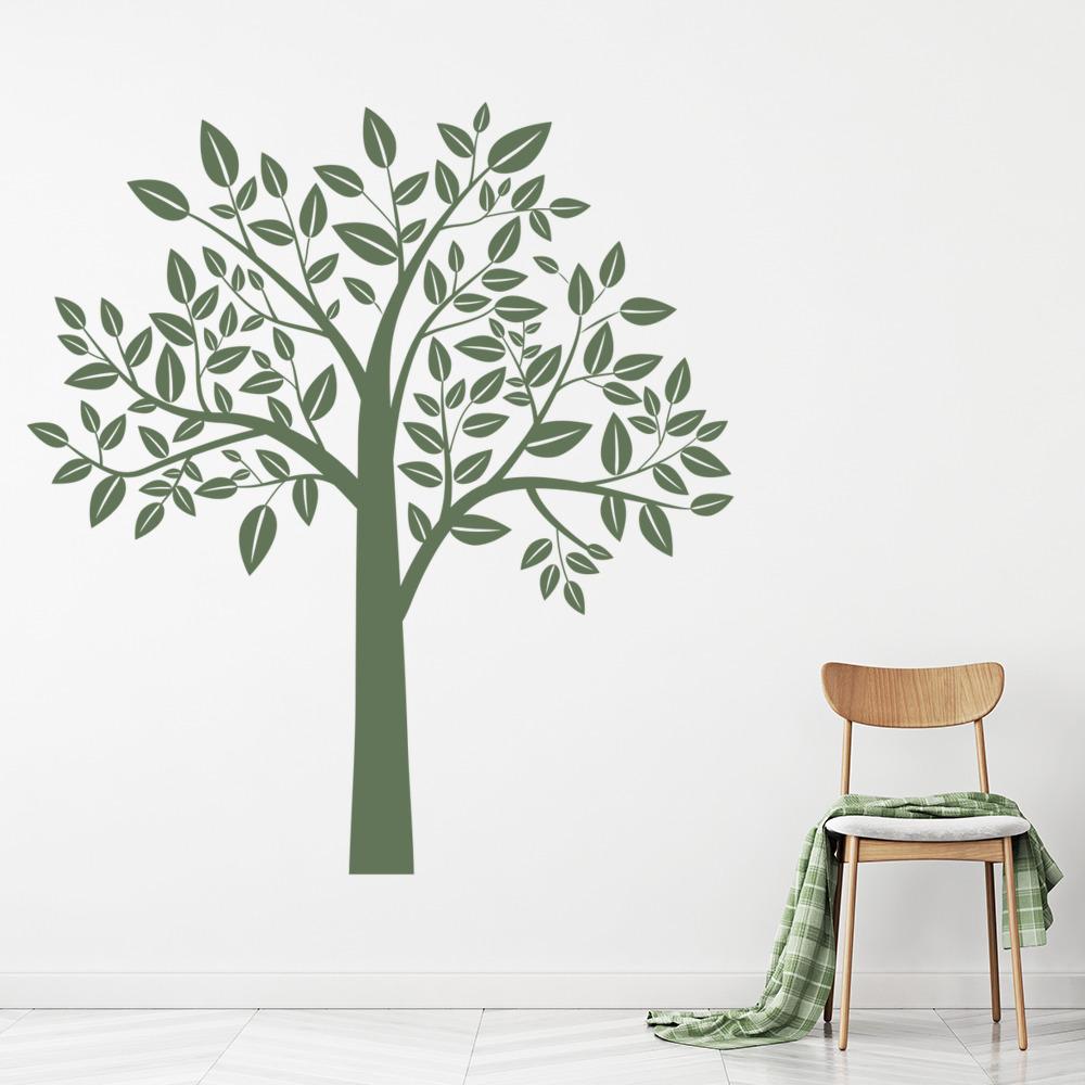 Leafy Tree Wall Sticker Birch Tree Wall Decal Kids Nursery Home Decor