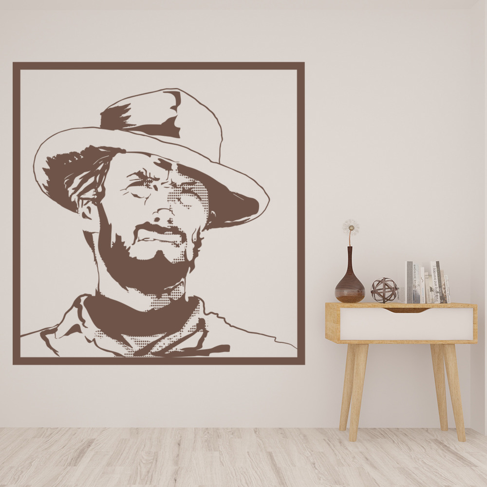 Clint Eastwood Wall Sticker Movies Film Wall Decal Icon
