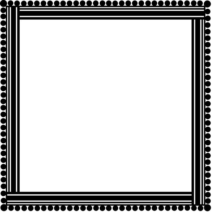 Bead Edge Square Decorative Frame Wall Stickers Home Border Decor ...