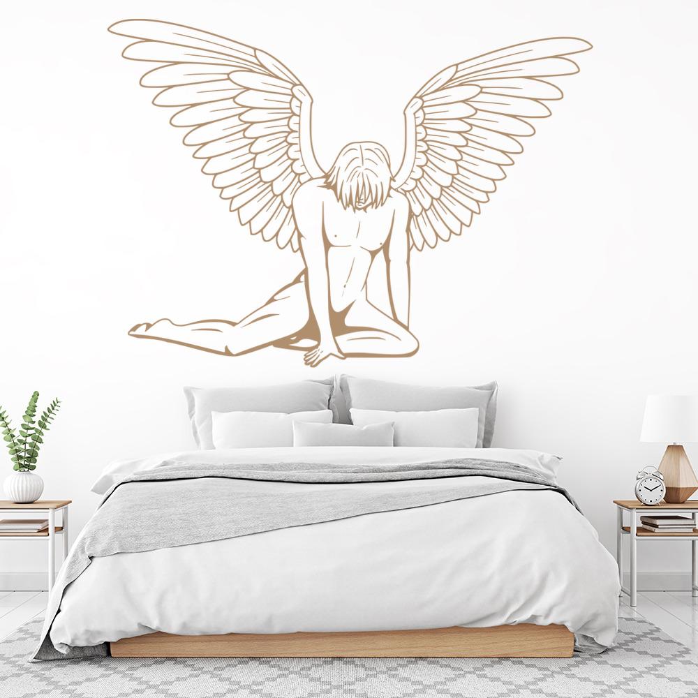 Fallen Male Angel Wall Sticker Angels & Wings Wall Decal Bedroom ...