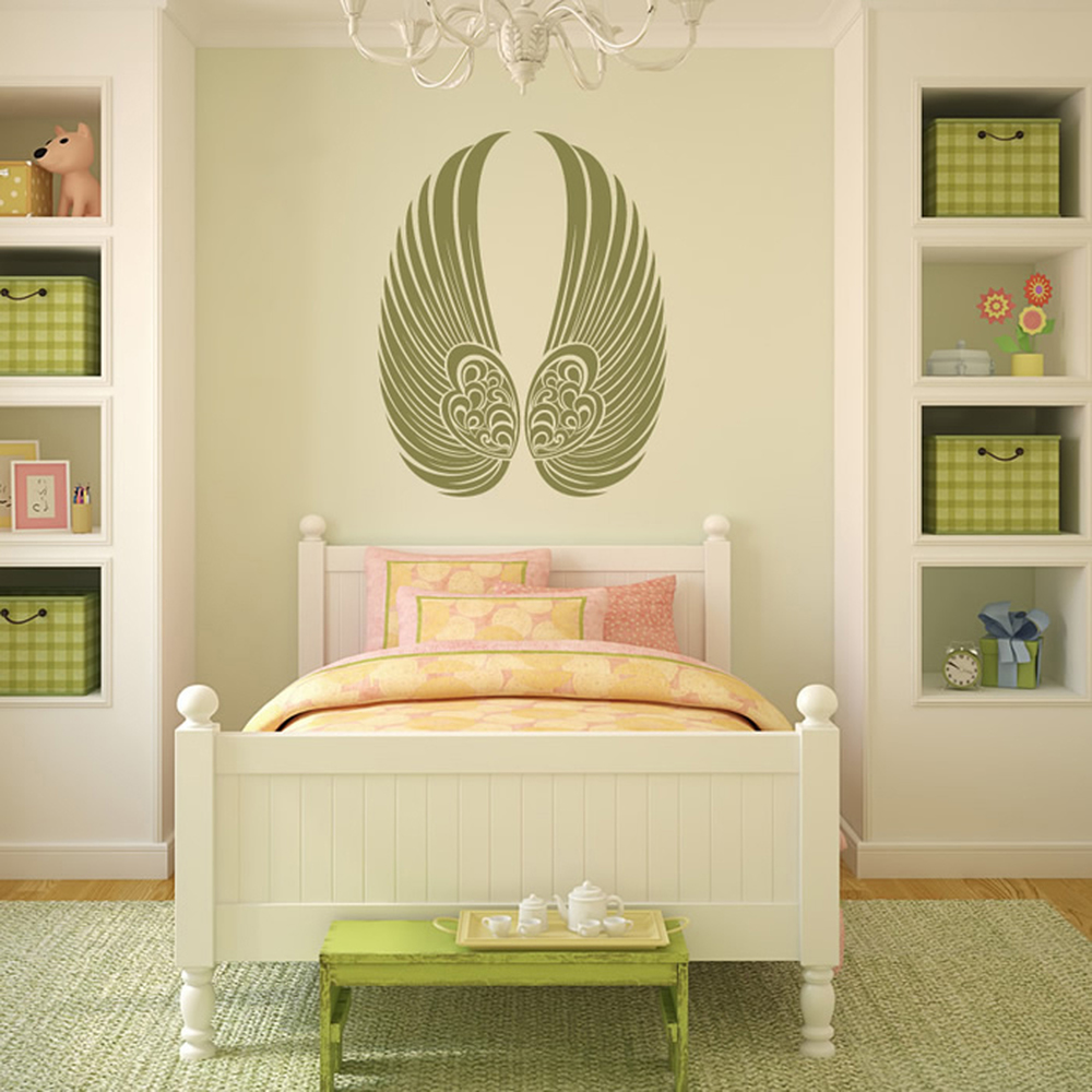 Gothic Angel Wings Wall Sticker Decorative Wall Decal Bedroom Home ...