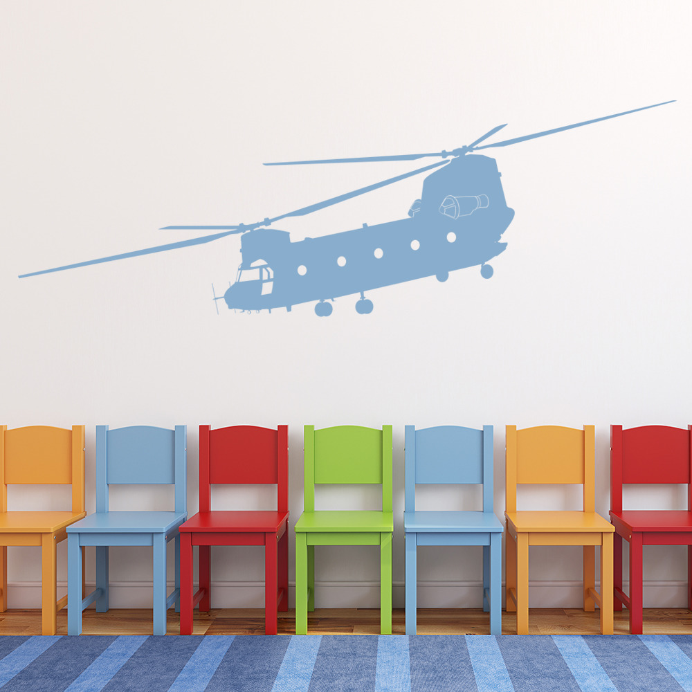 Chinook Helicopter Wall Sticker Army Wall Decal Boys Bedroom Home ...