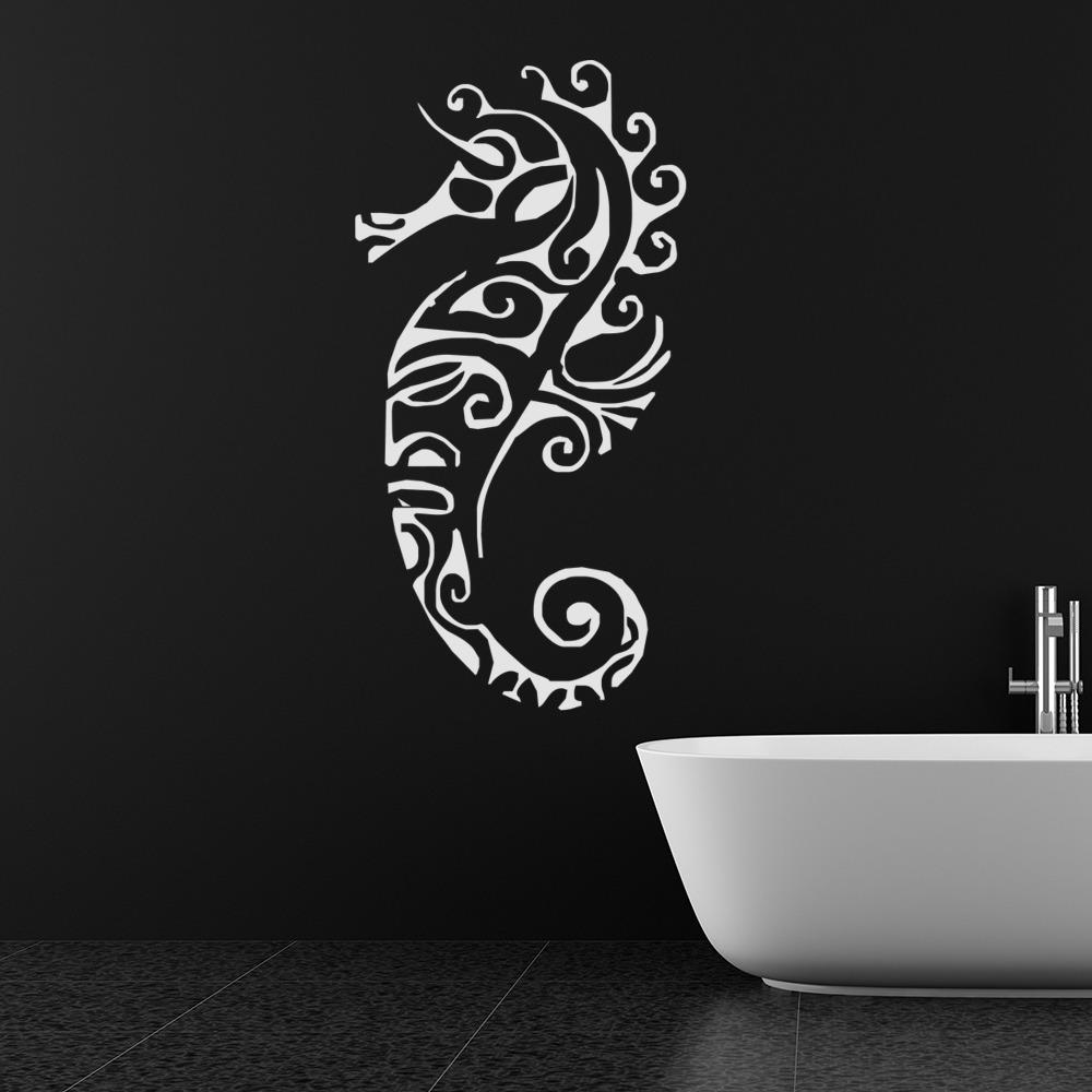 Seahorse Decorative Pattern Under the Sea Wall Sticker Bathroom Decor Art Decals