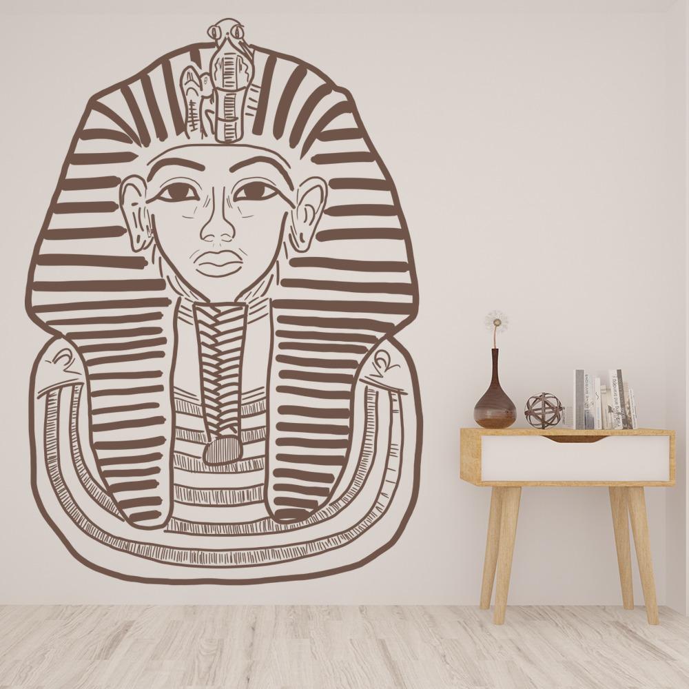 Egyptian Pharaoh Wall Sticker Egypt Wall Decal Bedroom Home Decor | eBay