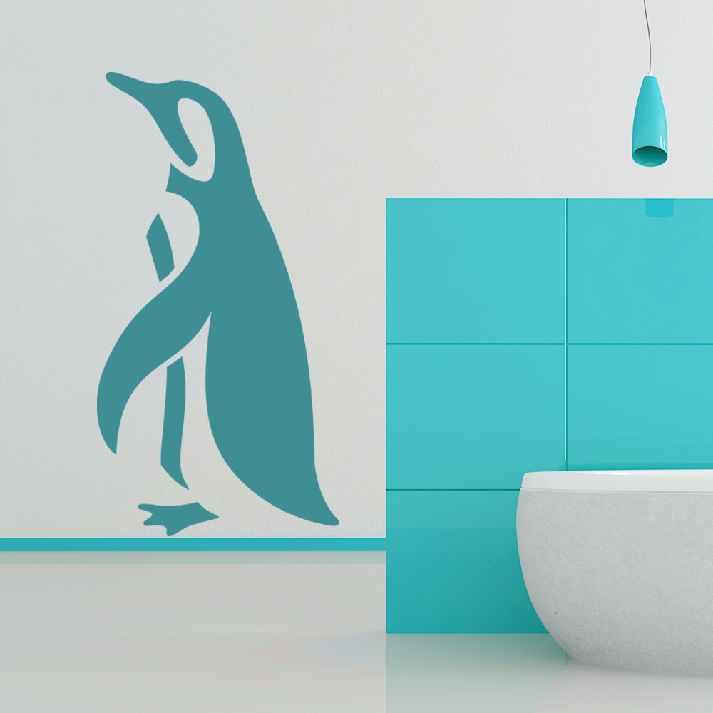 Penguin simple silhouette under the sea wall stickers bathroom penguin simple silhouette under the sea wall stickers bathroom decor art decals amipublicfo Gallery