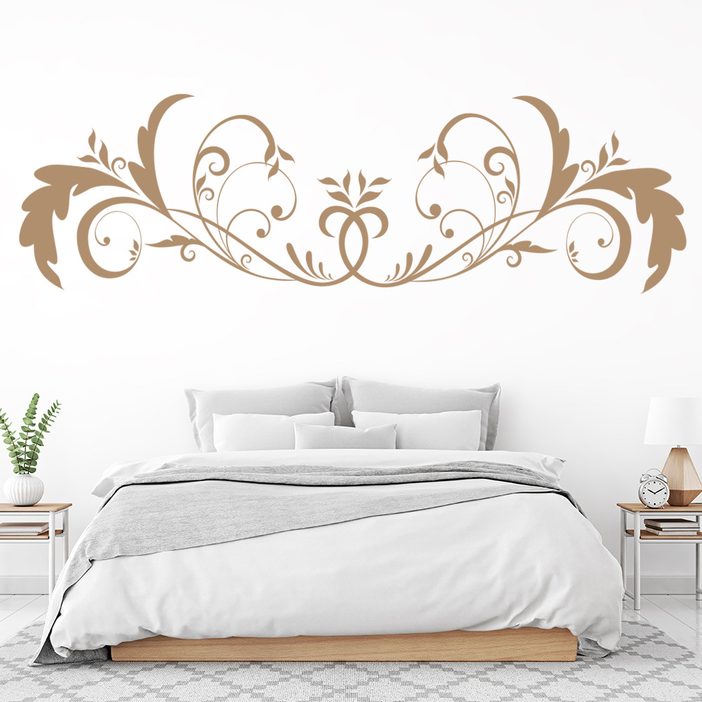 Sticker headboard mural decoration flower ref 3634 5 dimensions