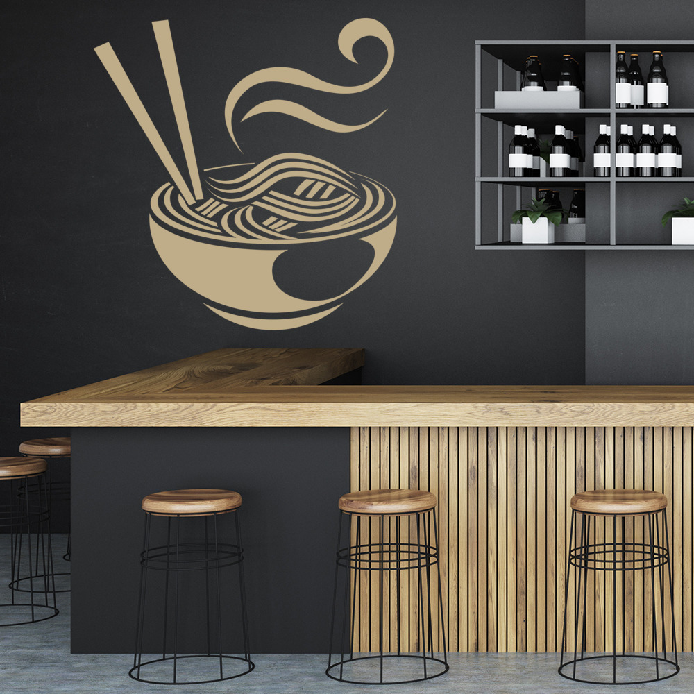 Noodles Wall Sticker Chinese Japanese Wall Decal Kitchen Cafe Home Decor