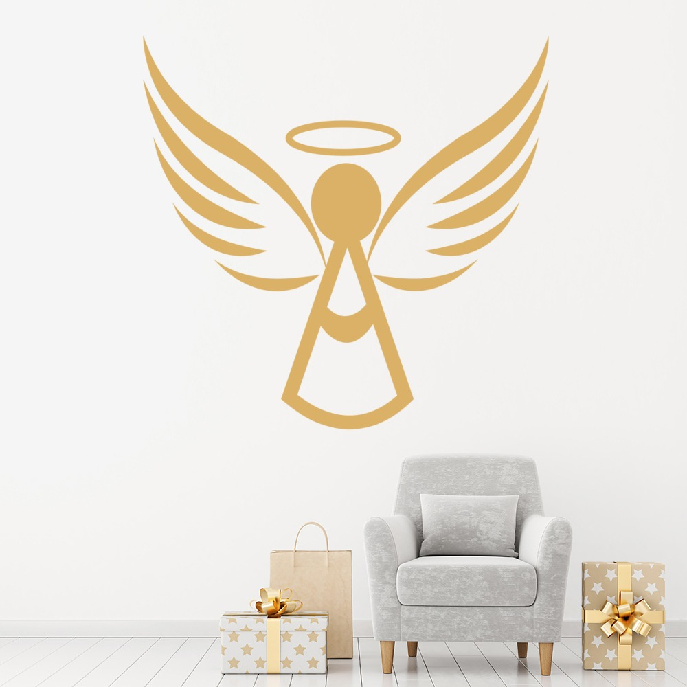 Angel Halo Wall Sticker Angels Wings Wall Decal Christmas Religion