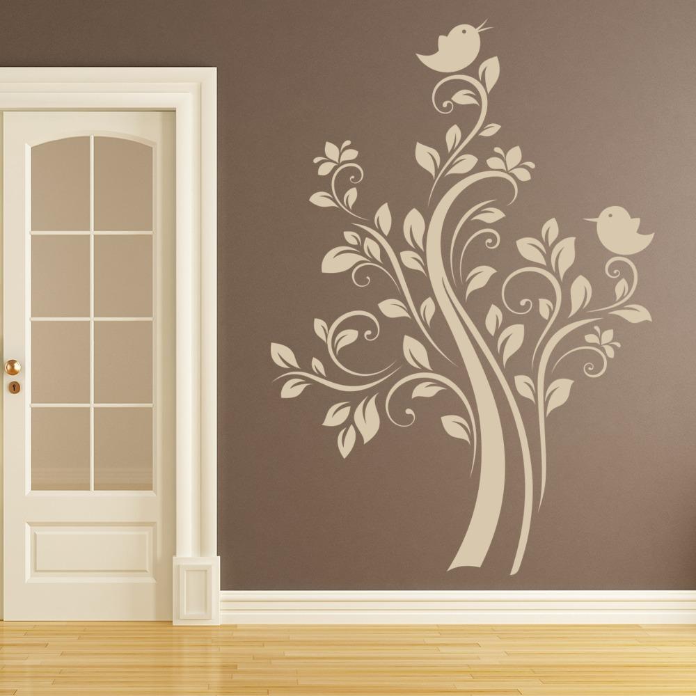 Rbol vinilos decorativo aves adhesivos pegatina pared for Vinilos para pared ninos