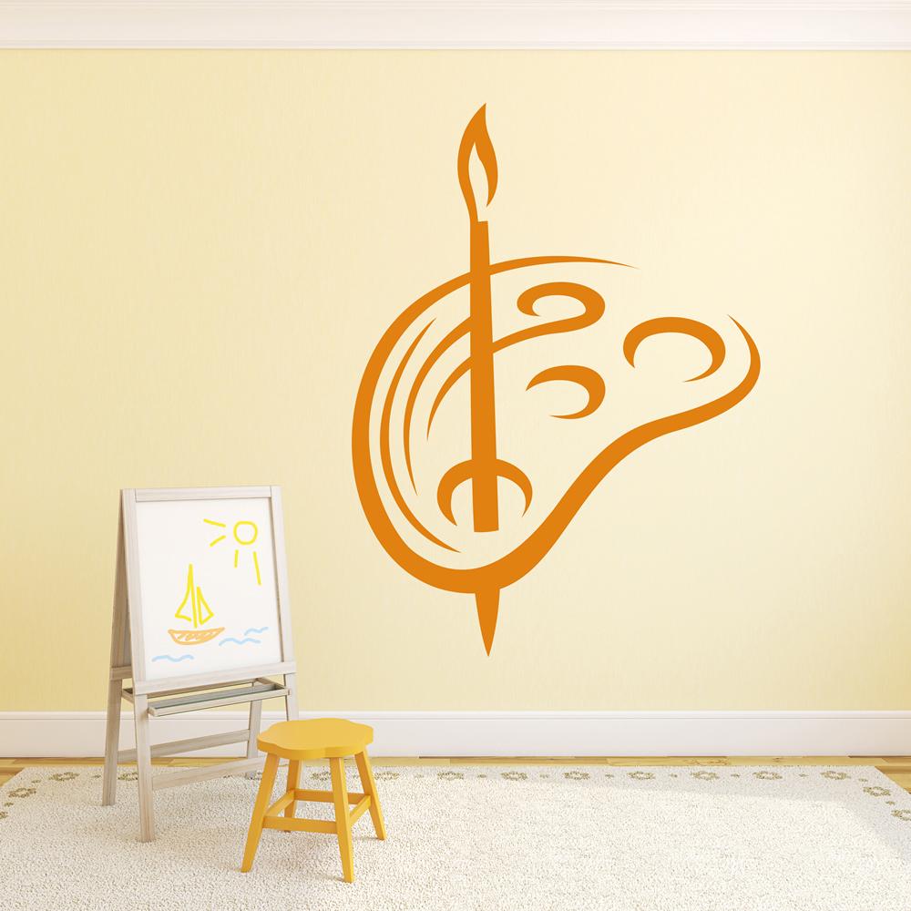 Art Pallet Wall Sticker Paint Wall Decal School Classroom Home Decor ...