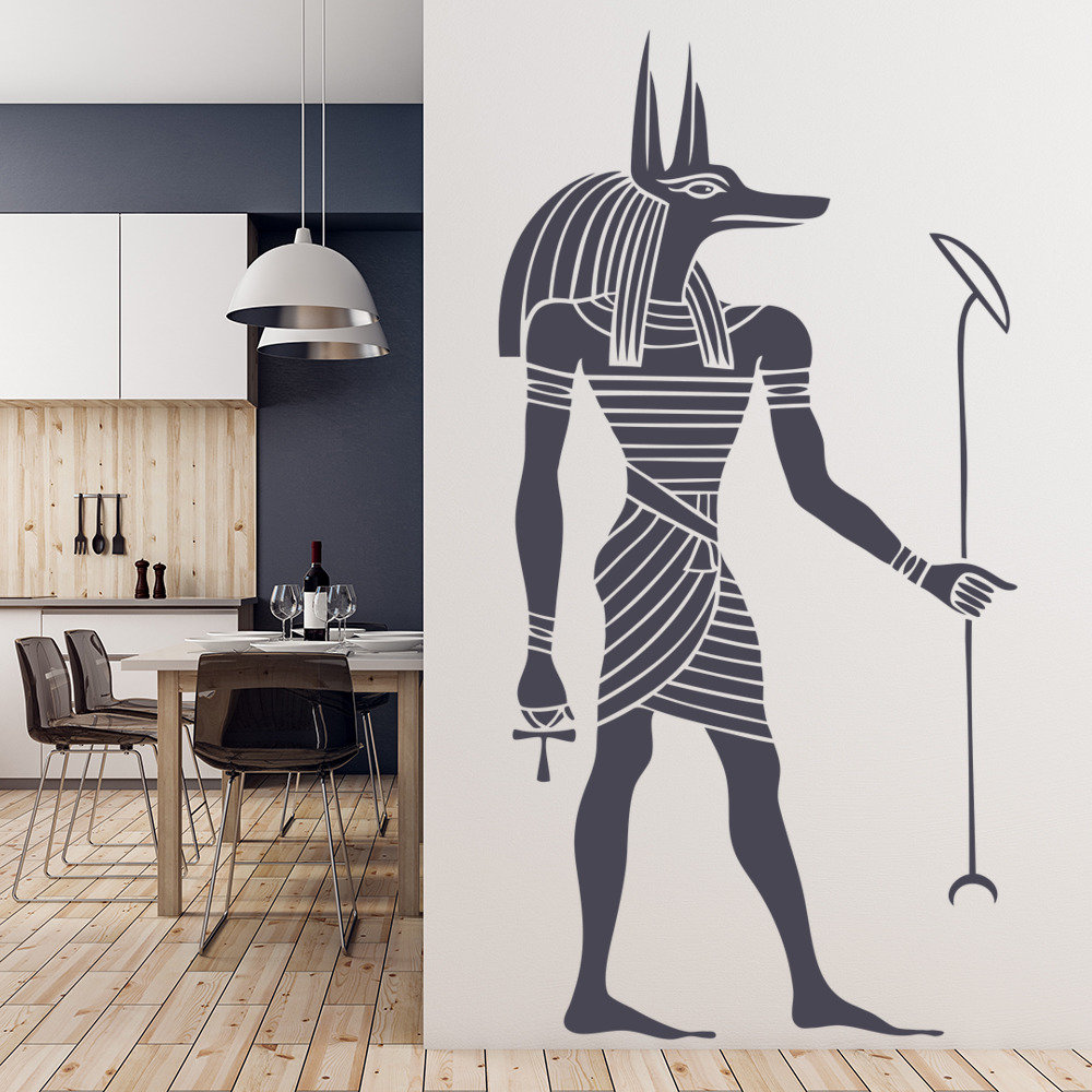 Egyptian Anubis Wall Sticker Ancient Egypt Wall Decal Bedroom Living ...