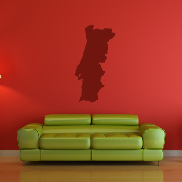 Portugal Silhouette Map Country Rest Of The World Wall Stickers Home Art  Decals Part 93