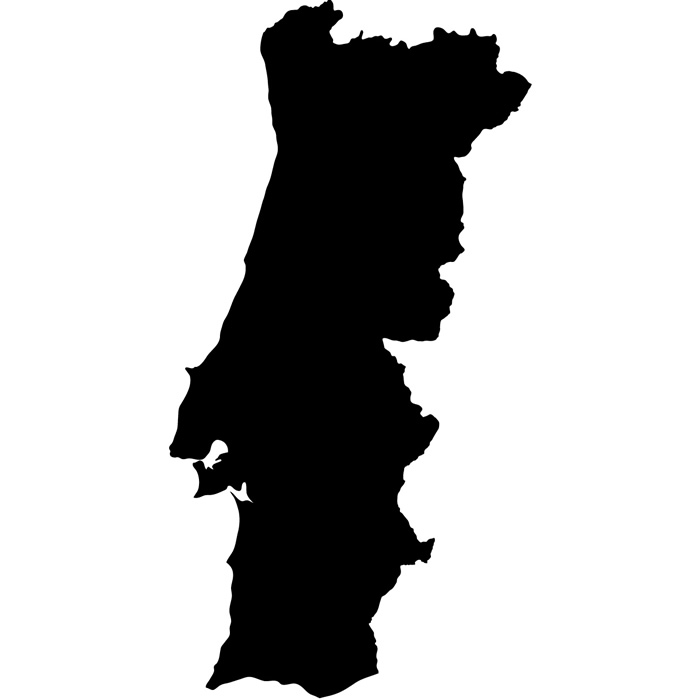 Portugal Silhouette Map Country Rest Of The World Wall