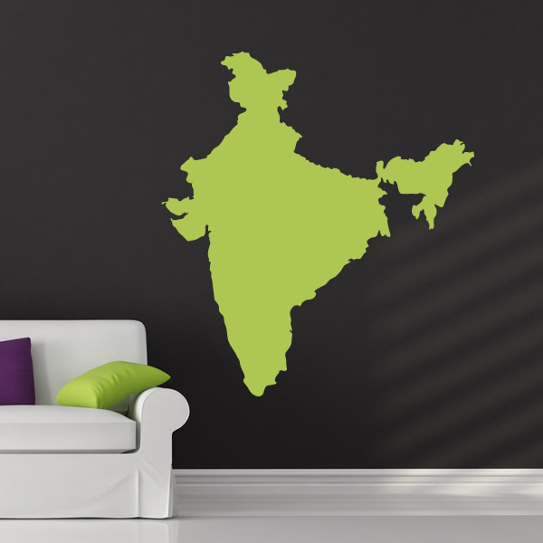 India silhouette map country rest of the world wall stickers home india silhouette map country rest of the world wall stickers home art decals gumiabroncs Choice Image