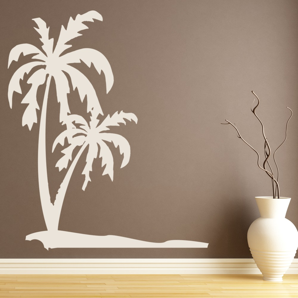 Palm Trees Tropical Beach Wall Decal Sticker WS-18569