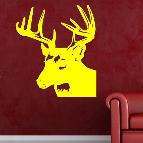 Stags Head Profile Deer Reindeer Wild Animals Wall Stickers Home ...