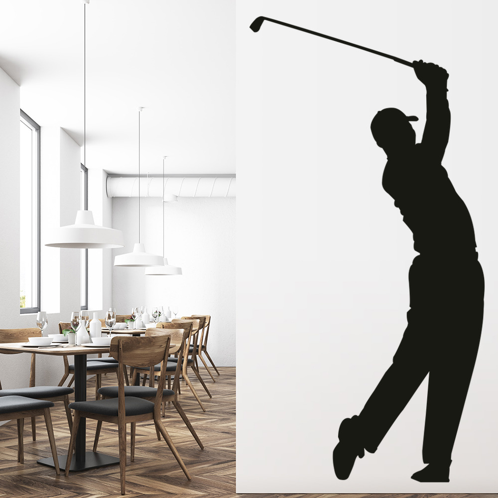 Tiger Woods Wall Sticker Golf Wall Decal Sports Bedroom Home Decor ...