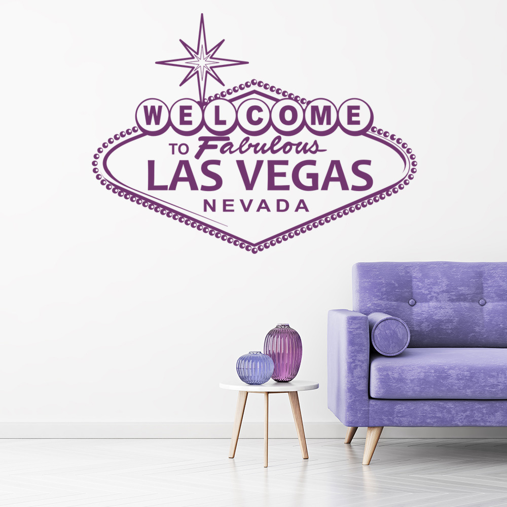 home decor online shopping usa las vegas wall sticker welcome sign wall decal usa 12343