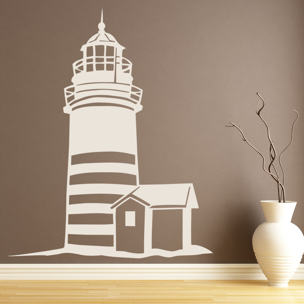 lighthouse beach nautical wall sticker ws 18903 ebay 18903 | ws 18903 02