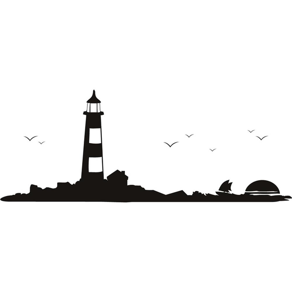 Lighthouse Ocean Wall Sticker WS-18904