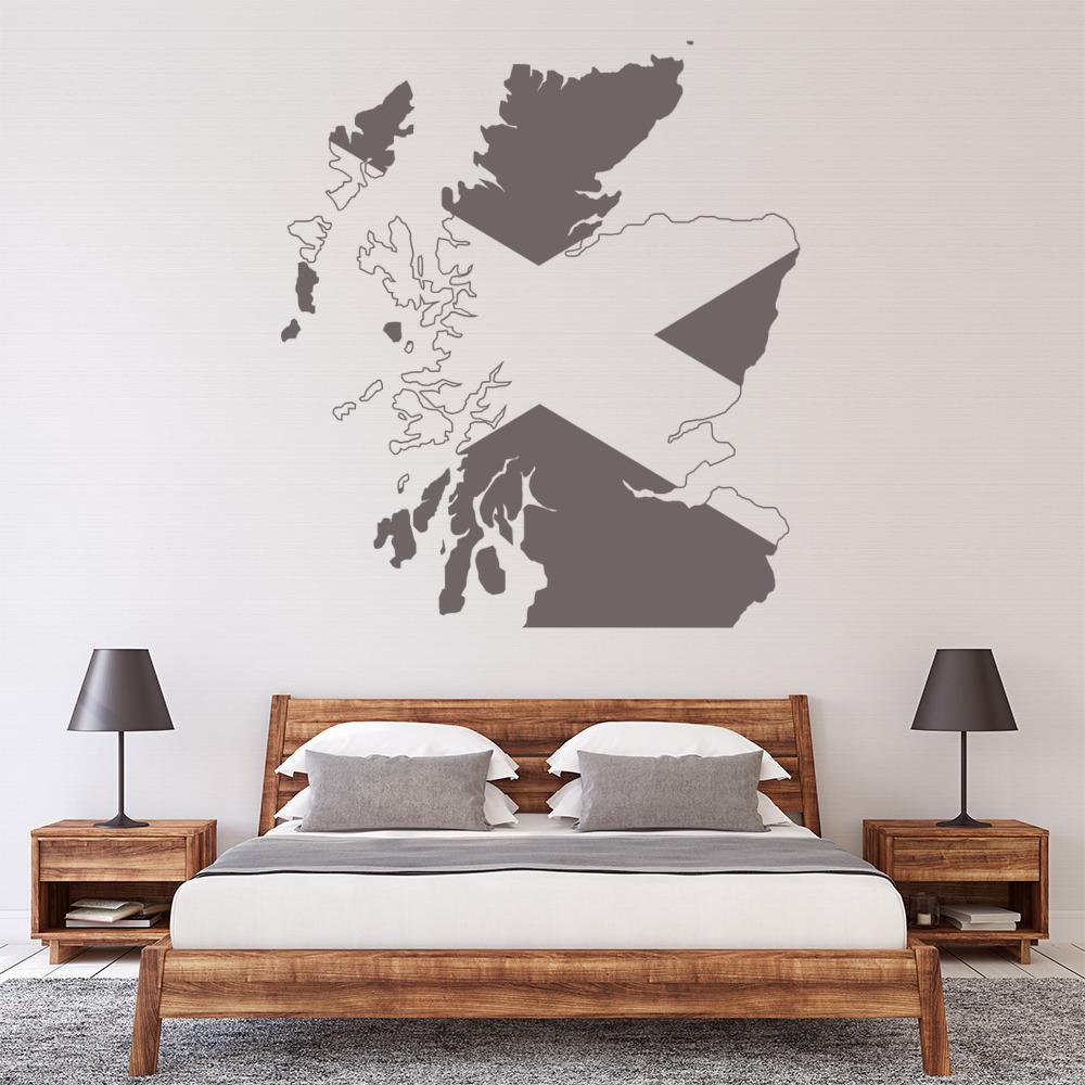 SCOTLAND FLAG WALL STICKER decal car art vinyl 5 sizes