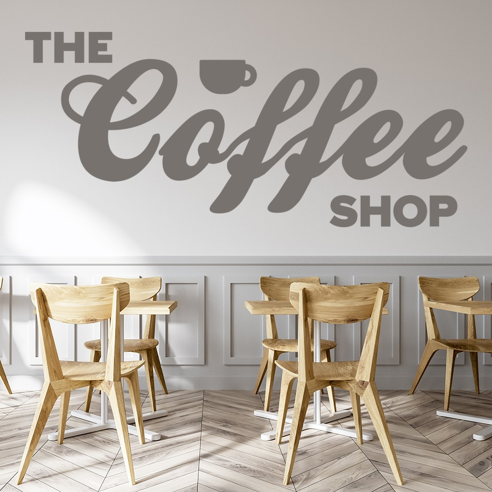 The coffee shop decorative wall art stickers wall decal ebay - Wall decor stickers online shopping ...